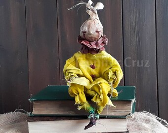Art doll, ooak doll, unique doll, sad doll