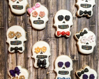 MINI SKULL Day of the Dead Cookies Sugar Cookies