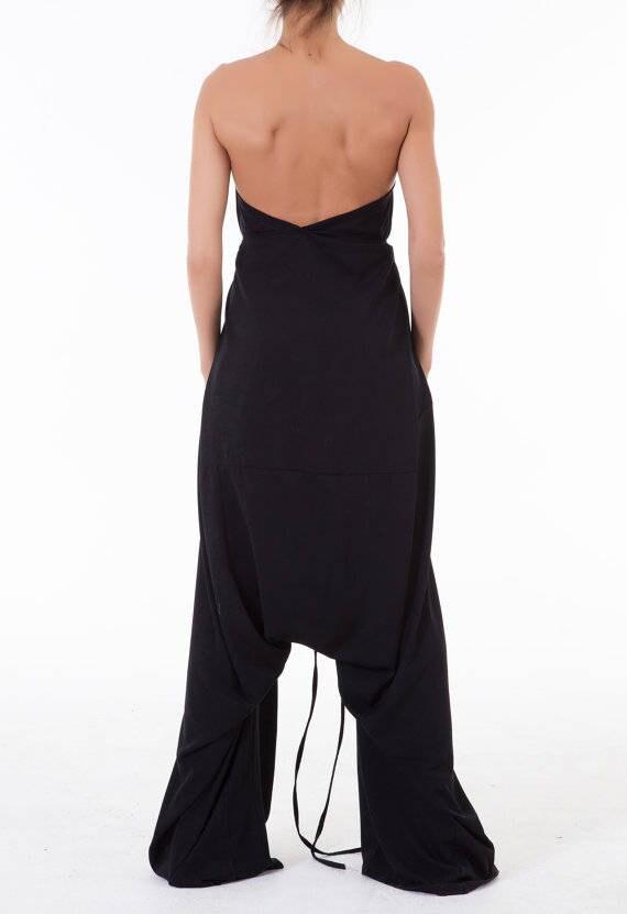 Jumpsuit Loose Oversize jumpsuit Jumpsuit Low Extravagant Plus Black size Crotch EtqwRFp