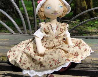 Playable Author Fabric Doll in removable clothes Zhanna \ Textile soft doll \ Stuffed toy \ Gift for girl \ Special low price