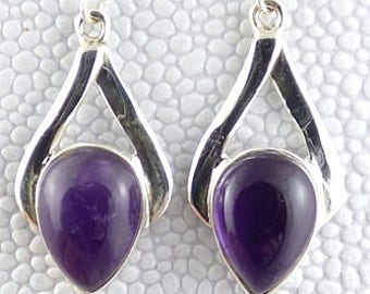EARRINGS AMETHYST jewelry natural chakra esotericism protection healing minerals ja69 care
