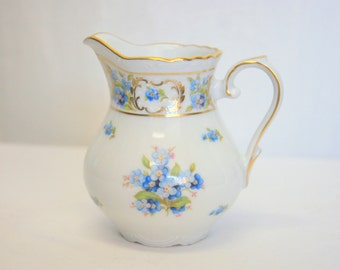"""Creamer or Milk Pot in """"Forget-Me-Not"""" Design by Schumann (Germany) Discontinued Circa 1945-1970"""