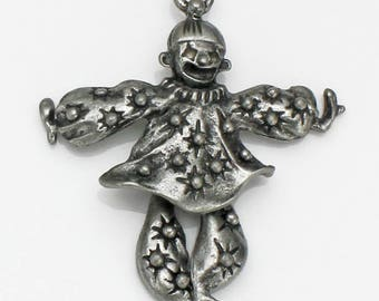 Pewter Clown Pendant or Charm