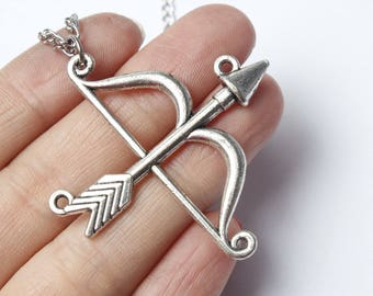 Arrow Necklace - Silver Arrow Necklace - Hunger Games Inspired Necklace - Mockingjay Necklace - Archery Necklace - Arrow Jewelry