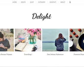 Delight - Responsive Blogger Blogspot Template For Lifestyle and Fashion - Clean Minimalist Design - Premade Blogger Template