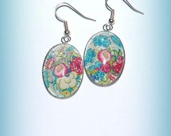Earrings flowers ovals