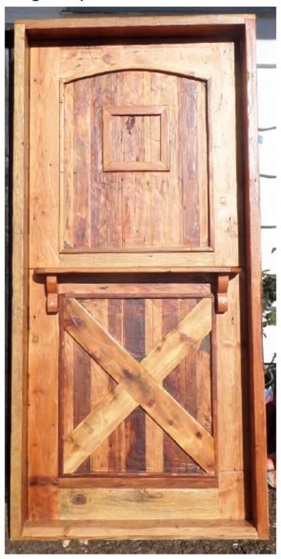 Reclaimed Lumber Rustic Dutch Door W Hard Ware Speakeasy