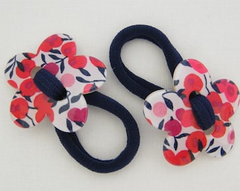 EXCLUSIVE LIBERTY flower hair elastic (Wiltshire red Betsy Meadow) girl