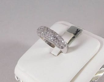 2 Carat Diamond Band, 14k White Gold