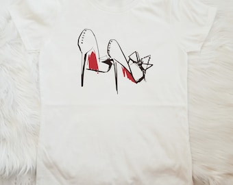 Christian Louboutin Inspired Shirt, Red Bottoms Shirt, Ladies Tshirt, Louboutin Tshirt