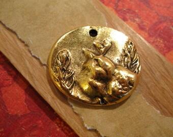 Shenandoah Bird  Charm in Antique Gold from Nunn Design