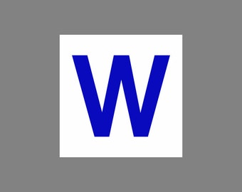 Chicago Cubs 2016 World Series Champions ''W'' VINYL Decal car tattoo sticker vinyl FREE SHIPPING
