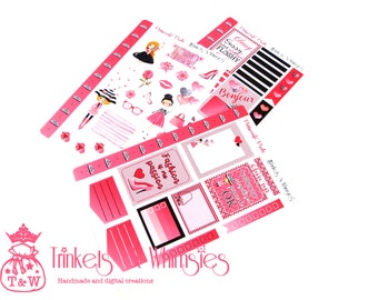 Passionate Pink Weekly Layout Stickers for The Happy Planner