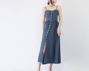 Button-Down Midi Dress