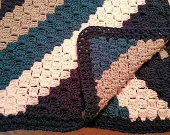 6' x 6' Corner to Corner Afghan - Crochet Blanket