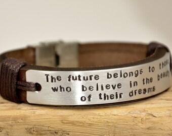 FAST SHIPPING, Mens Bracelet, Daddy Bracelet, Custom Mens Bracelet, Personalize Gift  For Men For Him Bracelet, Husband Bracelets,  For Mens