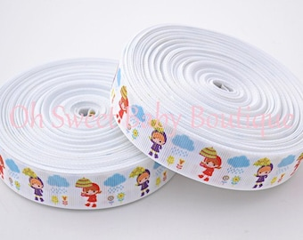 "April Showers 7/8"" Grosgrain Ribbon"