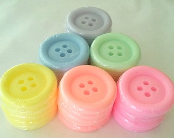 Cute as a Button - 10 soaps -- Party Favor -- Birthday -- Baby Shower