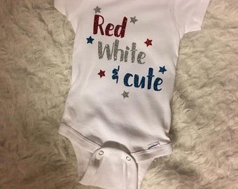 Red White and Cute Onesie/Shirt