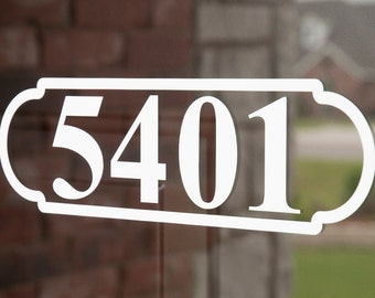 Address with Border 4 (Small) - Vinyl Decal