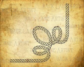 Rope Flourish Embellishment Clipart Lineart Illustration Instant Download PNG JPG Digi Line Art Image Drawing La99