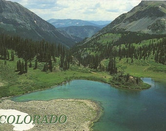 Vintage Postcard Fancy Lake Creek Holy Cross Wilderness Area Colorado United States Scenic Nature View Photochrome Postally Unused