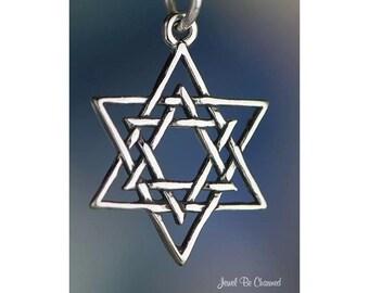 Sterling Silver Star of David Charm Judaism Jewish Hebrew Solid .925