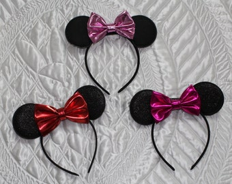 Minnie Mouse ears, birthday, Disney, headband, headbands, Disney World, handmade, custom, hair accessories, Minnie Mouse, disney ears