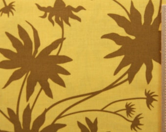 SALE CLEARANCE Joel Dewberry Black Eyed Susan JD07 Moss Gold Brown Sewing Quilting fabric 100% Cotton Fabric by the yard Free Spirit fabric