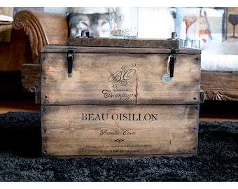 """Crate Box cargo Box Chest table """"Bo Oisillon"""""""