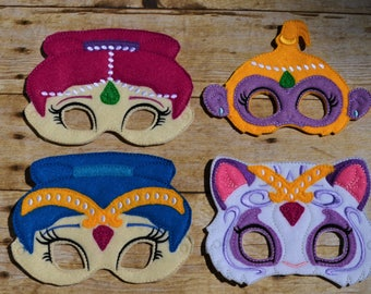 Genie Twin and pets Mask set child/adult sizes available