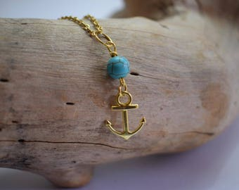 Anchor Necklace, 14k Gold Necklace, Layering Jewelry, Dainty Necklace, Trendy Jewelry - Hope Anchors The Soul - Inspirational Faith jewelry