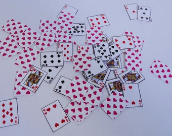 Tiny 52-Deck of cards with pink hearts on back, 1:6 Scale, Miniature, Barbie, scrapbooking, craft supply, cards, toys, hobbies, paper crafts