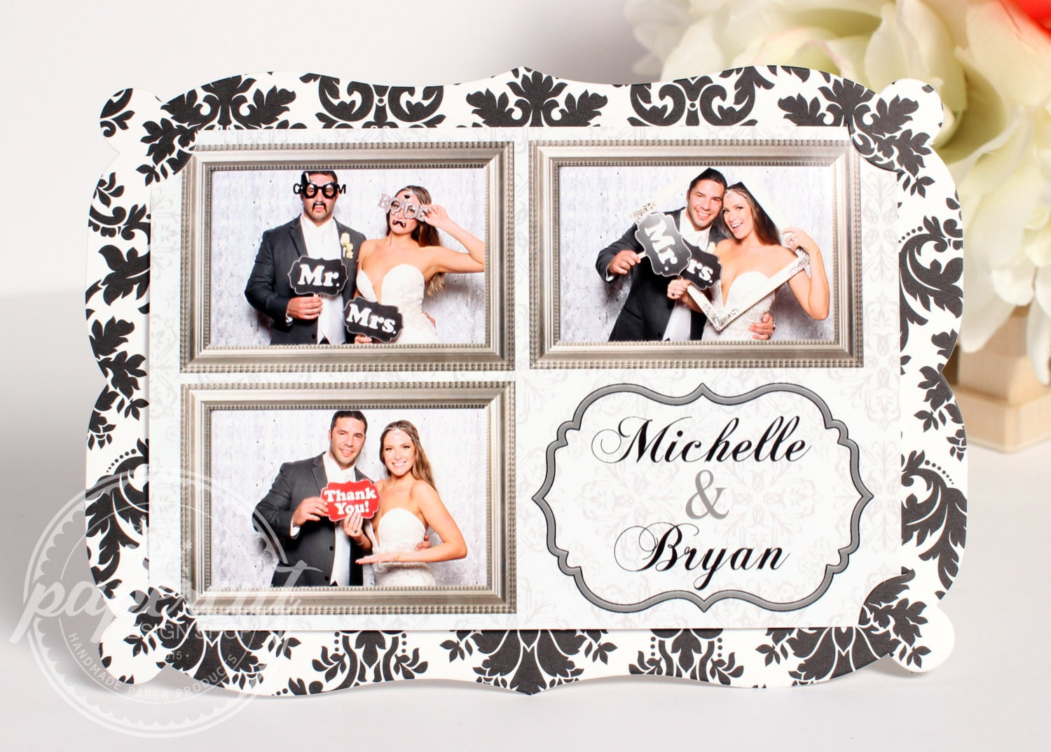 Photo Booth Photo Holder for 4x6 Photos Cardstock Photo Frame