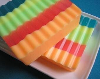 Rainbow Soap, Fruit Soap, Glycerin Soap, Citrus Soap,  Orange Soap, Apple Soap, Peach Soap, Strawberry Soap, Teen Soap, Soap for Kids