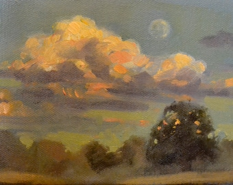"5"" x 7"" original oil painting landscape"