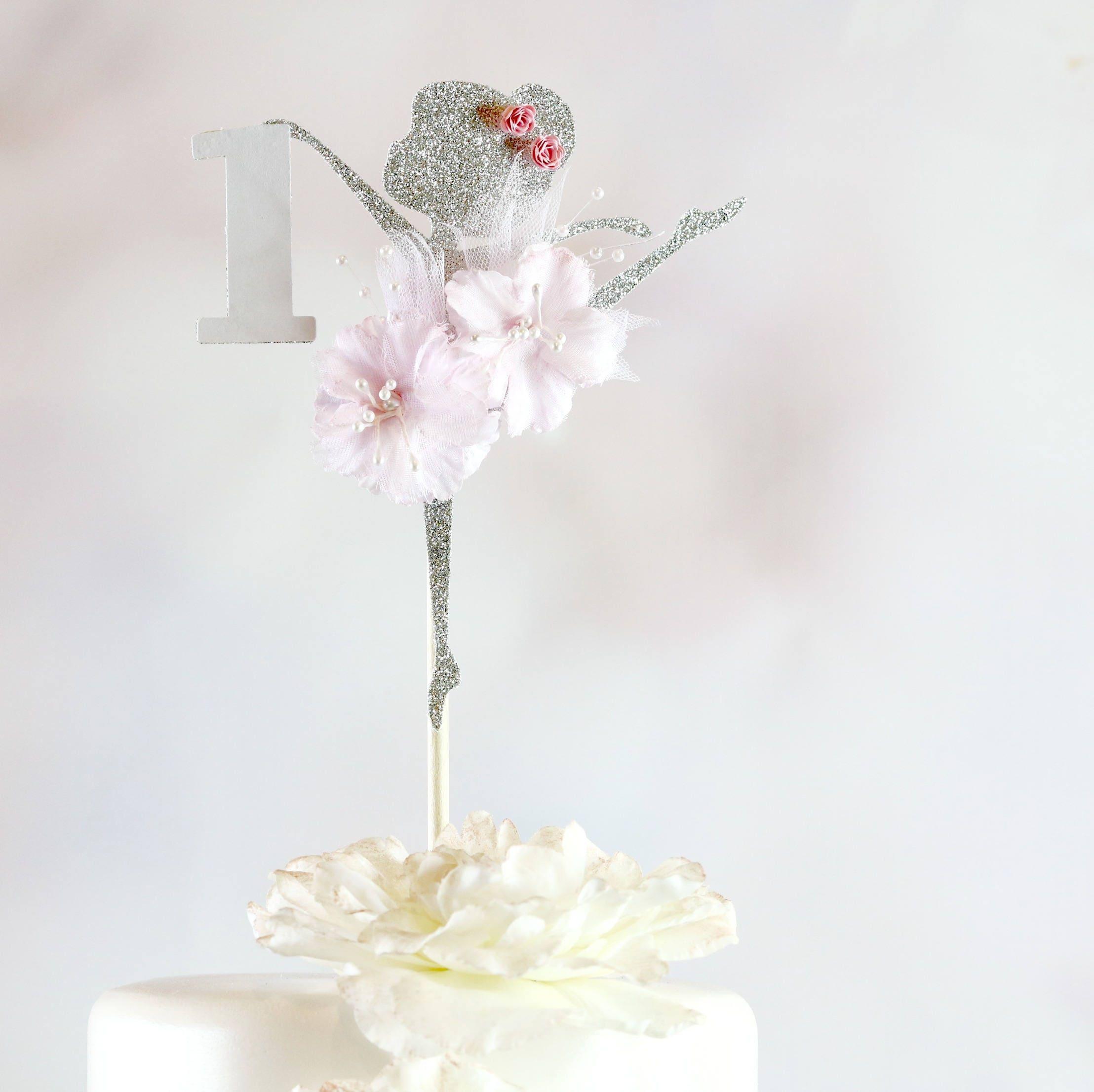 Bailarina Pastel Topper Decoraciones De Fiesta De Bailarina # Muebles Cadena Flores