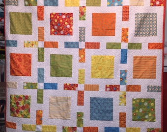 Bright and Cheery Handmade Lap Quilt