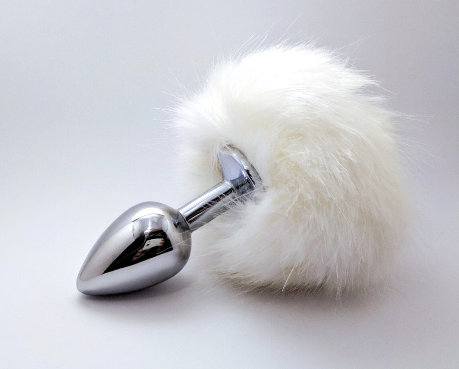 white bunny tail butt plug anal plug tail adult toys