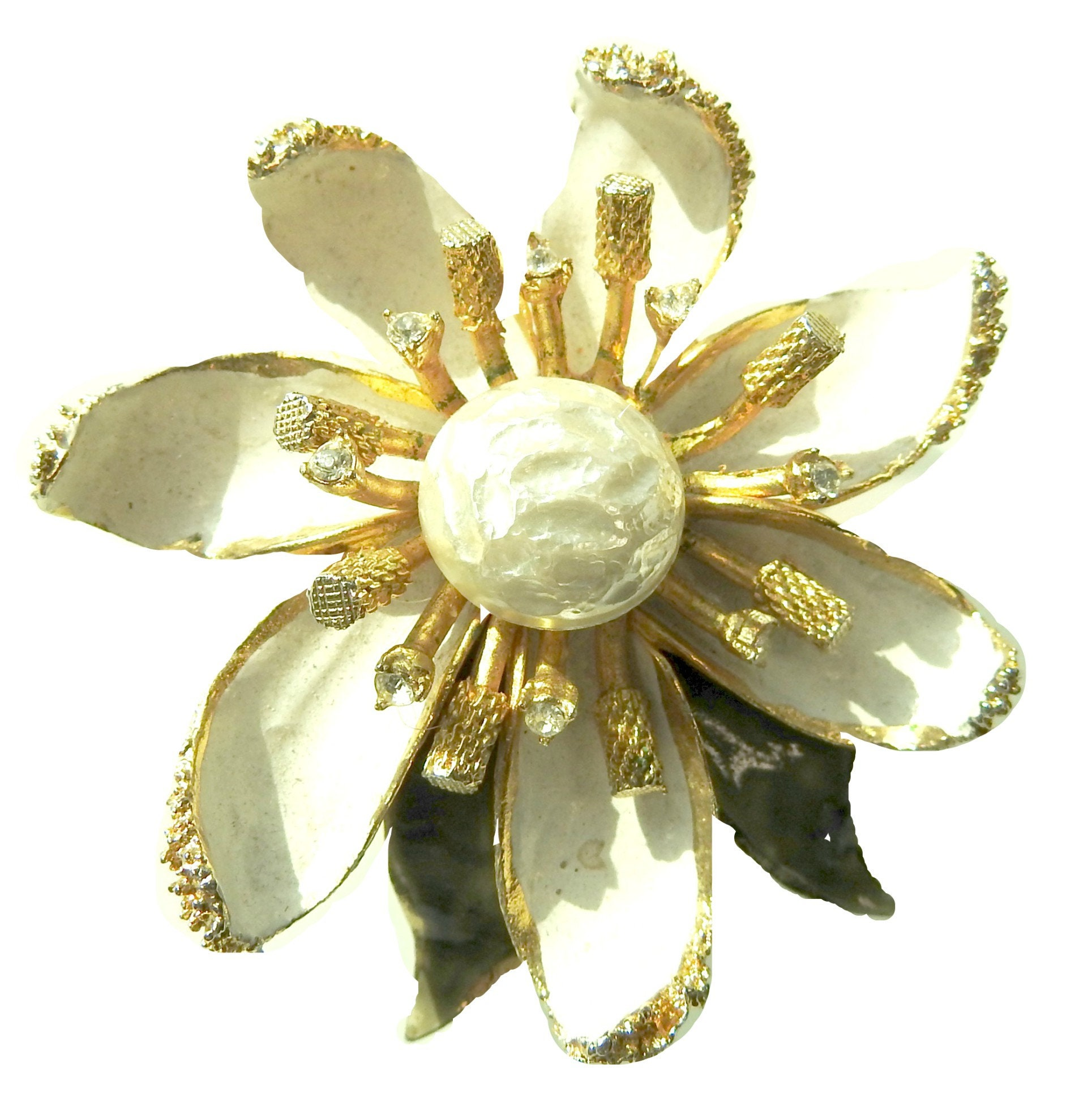 White flower brooch jewelry mightylinksfo