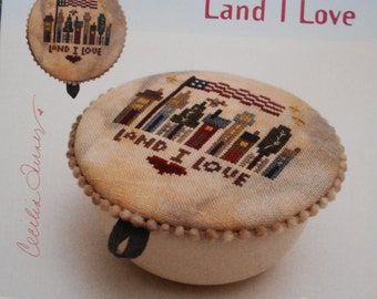 "Heart in Hand ""Land I Love"" - Cross Stitch pattern only"