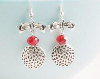Long silver earrings, Bridemaids earrings, Art Deco earrings, Crystal bead earrings, Women's earrings, statement earrings