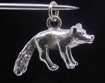 Sterling silver Animal pendant Fox