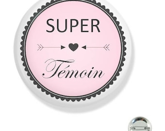 38MM badge / super light pink