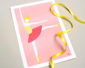 Risoprint – Ballerina | Risograph print – Ballerina
