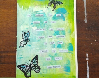Watercolor Art Journal Blank Butterfly