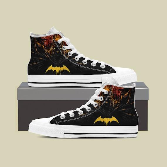 Batman Shoes Marvel Converse Superhero Custom DC Custom Marvel Batman Shoes Joker Batman Birthday Batman comics Sneaker Custom EvH8wqc
