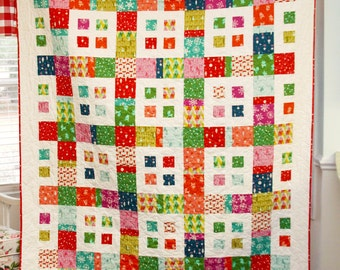 PDF Quilt Pattern.....Layer Cake and Fat Quarter friendly, ..Baby and Large Lap or Coverlet size, City Blocks