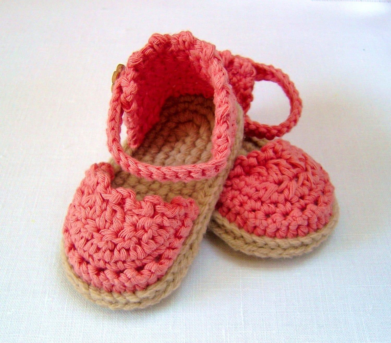 CROCHET PATTERN Baby Espadrille Sandals Easy Photo Tutorial Crochet ...