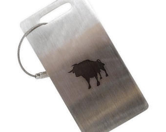 Bull Stainless Steel Luggage Tag